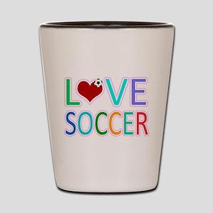 LOVE SOCCER Shot Glass