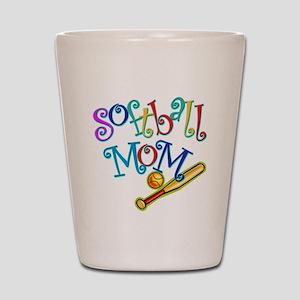 Softball Mom II Shot Glass