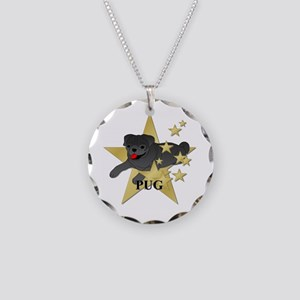 Pug Stars Necklace Circle Charm