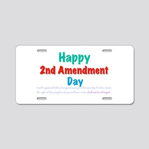 Second Amendment Aluminum License Plate