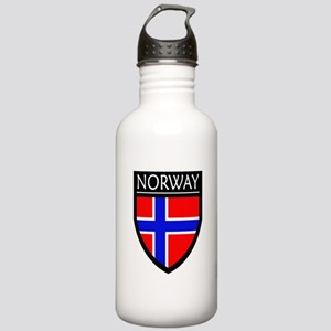 Norway Flag Patch Stainless Water Bottle 1.0L