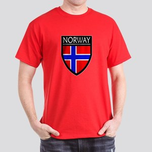 Norway Flag Patch Dark T-Shirt