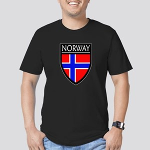 Norway Flag Patch Men's Fitted T-Shirt (dark)
