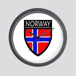 Norway Flag Patch Wall Clock