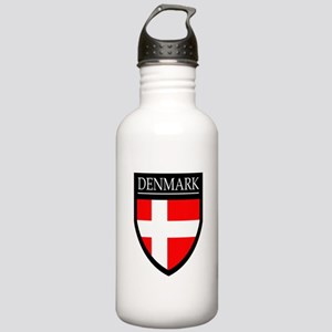 Denmark Flag Patch Stainless Water Bottle 1.0L