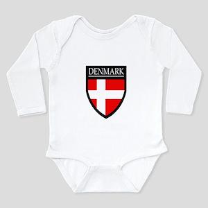 Denmark Flag Patch Long Sleeve Infant Bodysuit