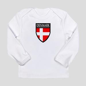 Denmark Flag Patch Long Sleeve Infant T-Shirt