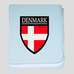 Denmark Flag Patch baby blanket