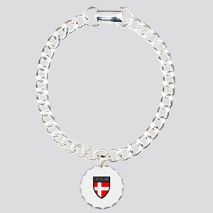 Denmark Flag Patch Charm Bracelet, One Charm