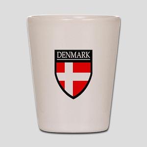 Denmark Flag Patch Shot Glass