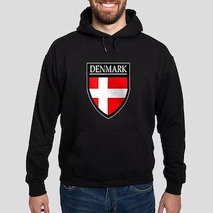 Denmark Flag Patch Hoodie (dark)