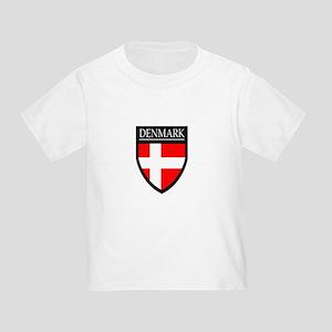 Denmark Flag Patch Toddler T-Shirt