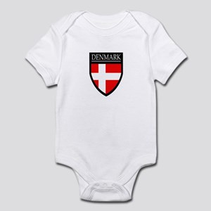 Denmark Flag Patch Infant Bodysuit