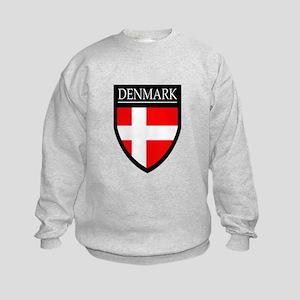 Denmark Flag Patch Kids Sweatshirt