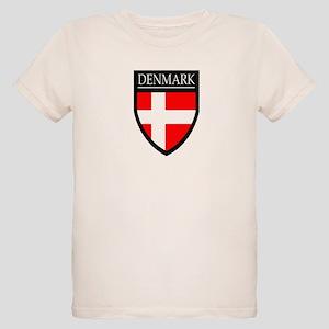 Denmark Flag Patch Organic Kids T-Shirt