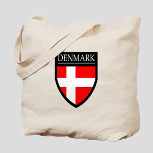 Denmark Flag Patch Tote Bag