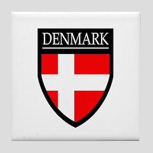 Denmark Flag Patch Tile Coaster