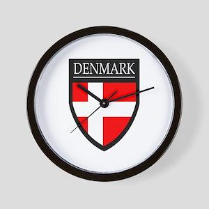 Denmark Flag Patch Wall Clock