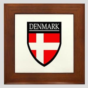 Denmark Flag Patch Framed Tile