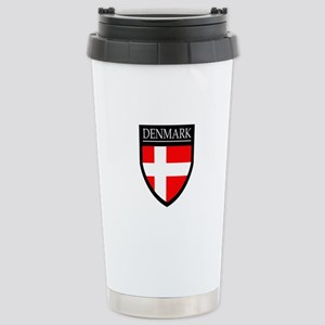 Denmark Flag Patch Stainless Steel Travel Mug