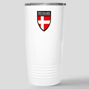 Denmark Flag Patch Stainless Steel Travel Mug