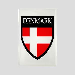 Denmark Flag Patch Rectangle Magnet