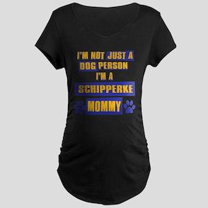 Schipperke Mommy Maternity Dark T-Shirt