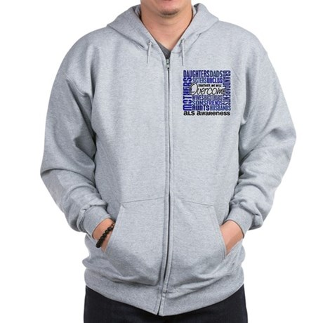 Family Square ALS Zip Hoodie