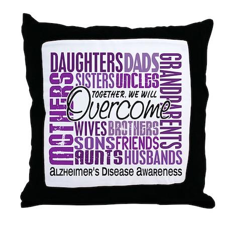 Family Square Alzheimer's Throw Pillow