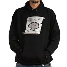 Pirate Treasure Map Hoodie (dark)