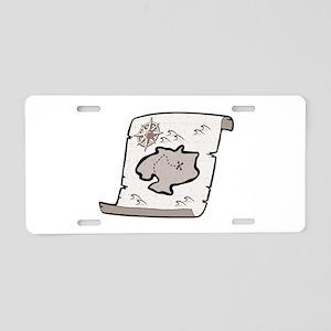 Pirate Treasure Map Aluminum License Plate