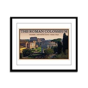 Colosseum from Forum Framed Panel Print