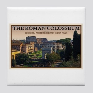 Colosseum from Forum Tile Coaster