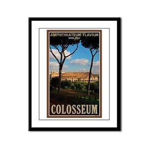 Colosseum - Palatine Hill Framed Panel Print