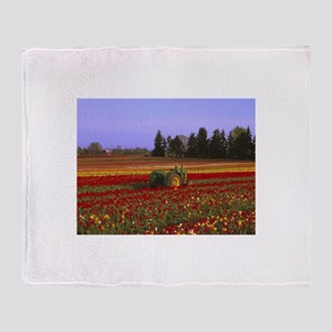 Field of Flowers Throw Blanket