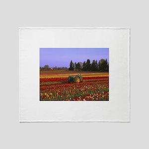 Field of Flowers Throw Blanket