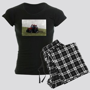 A Red Tractor On The Go Women's Dark Pajamas