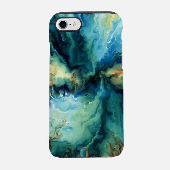 Abstract Blue Oil Painting Fra iPhone 7 Tough Case