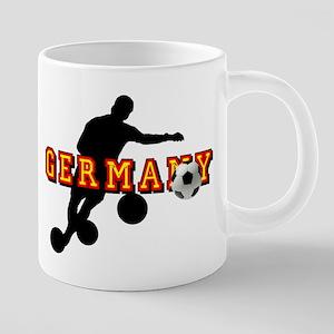 Germany Soccer 20 oz Ceramic Mega Mug