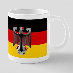 German Soccer Flag 20 oz Ceramic Mega Mug