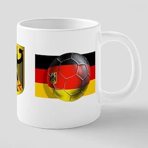 Germany Football 20 oz Ceramic Mega Mug