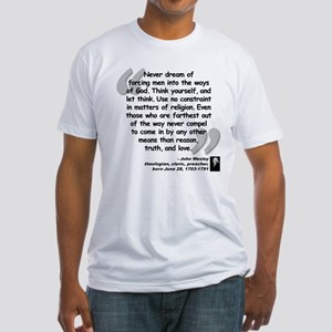 Wesley Religion Quote Fitted T-Shirt