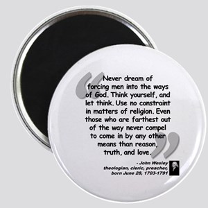 Wesley Religion Quote Magnet