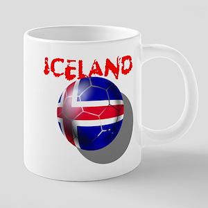 Iceland Football 20 oz Ceramic Mega Mug
