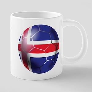 Iceland Soccer Ball 20 oz Ceramic Mega Mug