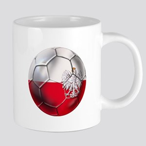 Poland Football 20 oz Ceramic Mega Mug