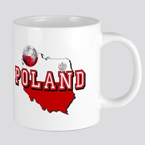 Polish Flag Map 20 oz Ceramic Mega Mug
