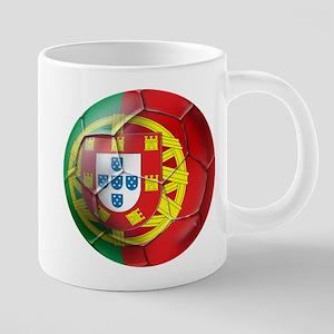 Portuguese Football Soccer 20 oz Ceramic Mega Mug
