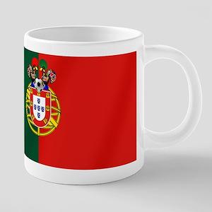 Portugal Football Flag 20 oz Ceramic Mega Mug