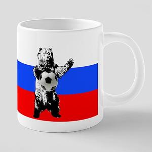 Russian Football Flag 20 oz Ceramic Mega Mug